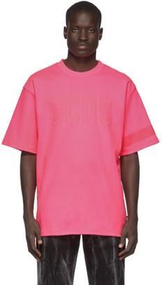 GCDS Pink Fluo Logo T-Shirt