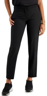 Bar III Pinstripe Skinny Pants, Created for Macy's