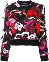 Emilio Pucci printed bow-embellished sweatshirt