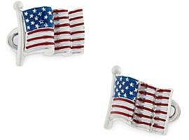 Jan Leslie Sterling Silver American Flag Cufflinks