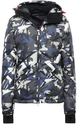 Perfect Moment Quilted Printed Shell Hooded Down Jacket