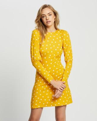 Dorothy Perkins Spot Puff Sleeve Dress