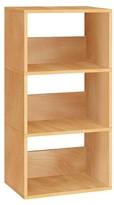Way Basics 3-Shelf Triplet Bookcase - Eco Storage Shelf - Natural Wood Grain