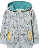 Indikidual Grey Banana Print Hoody with Pockets