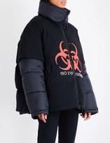 Vetements Volunteer shell puffer jacket