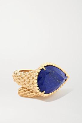 Boucheron Serpent Boheme 18-karat Gold Lapis Lazuli Ring