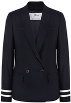 J.Crew Comero Striped Wool-piqué Blazer - Navy