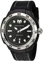 Technomarine Men's Quartz Watch with Black Dial Analogue Display and Black Silicone Strap TM-515006