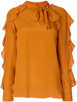See by Chloe ruffle and tie neck blouse