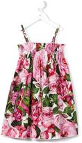Dolce & Gabbana smocked floral dress - kids - Cotton - 4 yrs