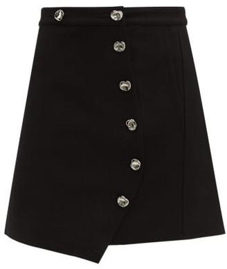 Tibi Anson A-line Mini Skirt - Black