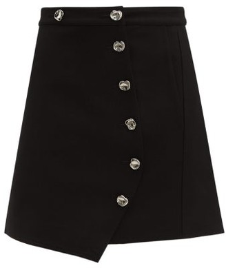Tibi Anson A-line Mini Skirt - Womens - Black