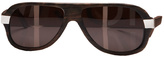 Aviator Tea Wood Sunglasses