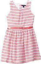 Nautica Scalloped Stripe Dress