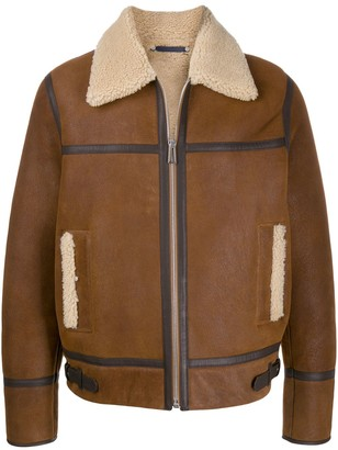 Paul Smith Zip-Front Shearling Jacket