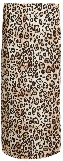 Raey Leopard Print Silk Pencil Skirt - Womens - Leopard