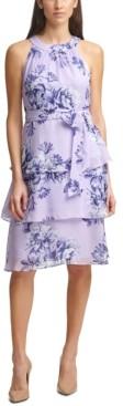 Jessica Howard Petite Tiered A-Line Dress