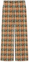 Gucci Woven effect G print cotton pant