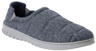 Dearfoams Men's Heathered Knit Quilted Closed Back Slippers