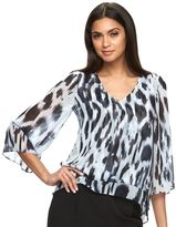 JLO by Jennifer Lopez Women's Chiffon Blouse