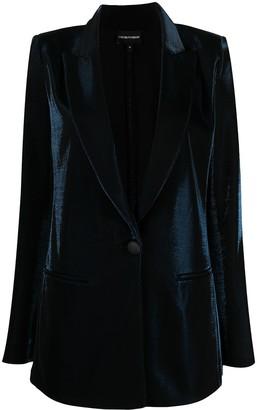 Emporio Armani Velvet Peaked Lapels Blazer