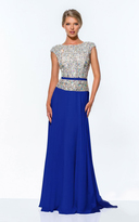 Terani Couture 151M0351A Crystal Encrusted A-Line Gown