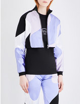 Caitlin Price Swril cropped satin track jacket