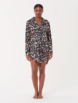 Diane von Furstenberg Cotton-Blend Pajama Shirt Dress