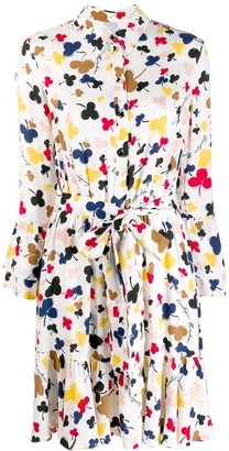 Boutique Moschino Floral Print Shirt Dress