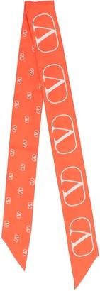 Valentino VLogo Neck Tie Scarf