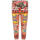 Dolce & Gabbana Dolce & GabbanaGirls Floral Majolica Print Leggings