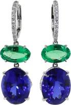 INBAR Tanzanite And Emerald Earrings