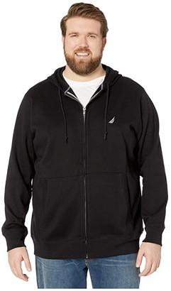 Nautica Big Tall Specialty Hoodie (True Black) Men's Sweater