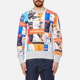 Champion Men's Reverse Weave All Over Print Sweatshirt Multi