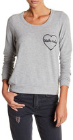 Chaser Love Graphic Keyhole Sweater