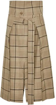 Eudon Choi Eileen Checked Stretch-wool Skirt