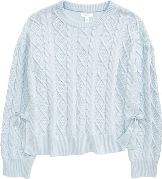 1901 Kids' Cable Crewneck Sweater