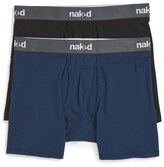 Naked Essential 2-Pack Stretch Cotton Boxer Briefs