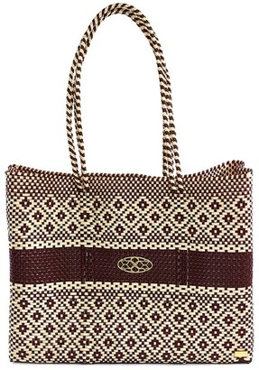 BEIGE Aztec Burgundy Travel Tote With Clutch