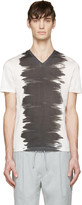 Calvin Klein Collection White & Black Watercolour T-Shirt
