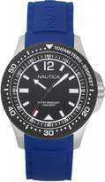 Nautica Men's 'MAUI' Quartz Stainless Steel and Silicone Casual Watch, Color: (Model: NAPMAU002)