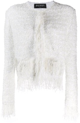 Balmain tweed fringed jacket