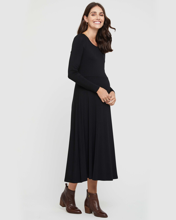Thumbnail for your product : Bamboo Body - Women's Black Midi Dresses - Olivia Dress - Size One Size, XL at The Iconic