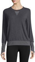 Alo Yoga Serene Mesh-Inset Long-Sleeve Sport Top