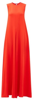Maison Rabih Kayrouz Sleeveless Crepe Gown - Womens - Red