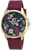Juicy Couture Women's 1901620 Sport Jetsetter 38mm Gp Case and Floral Printed Dial Watch