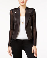 Material Girl Juniors' Illusion Embossed Moto Jacket, Only at Macy's