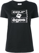 Courreges logo print T-shirt - women - Cotton - 2