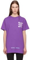 Off-White Purple Globe T-shirt