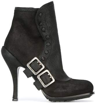 Christian Dior Pre-Owned buckled booties